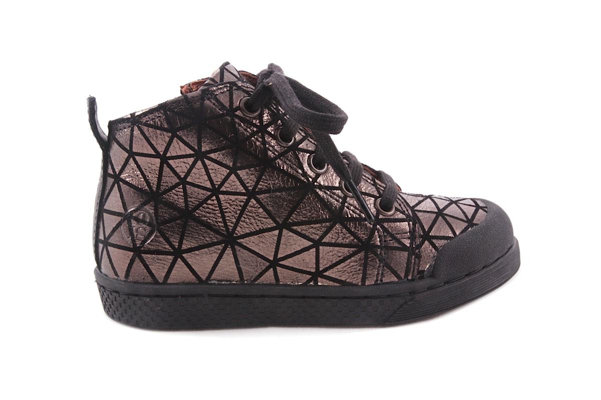 Sneaker Zwart Driehoekjes Metallic