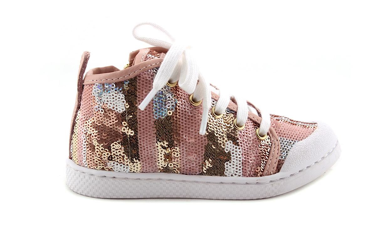 Sneaker Roze Paillettes Hoog