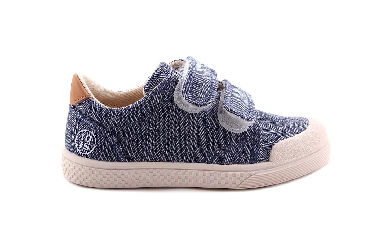 Sneaker Jeans Laag Velcro
