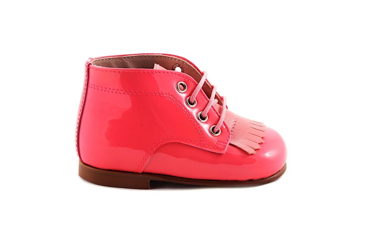 Veterschoen Lak Roze Roze Leder Franje