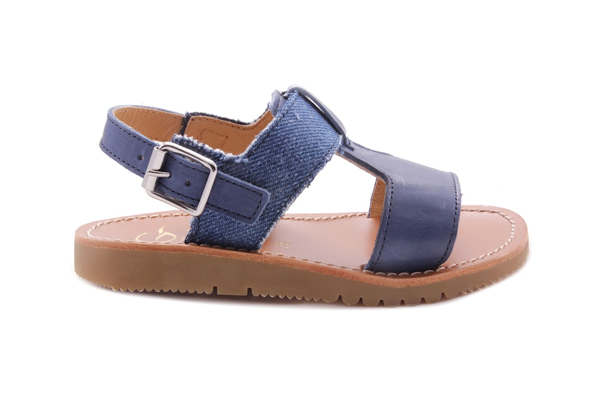 Sandaal T-model Blauw