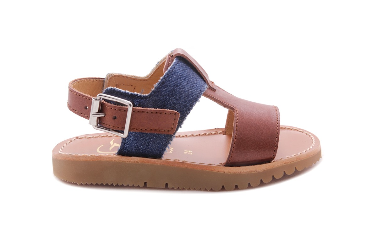 Gallucci sandaal T model cognac jeans