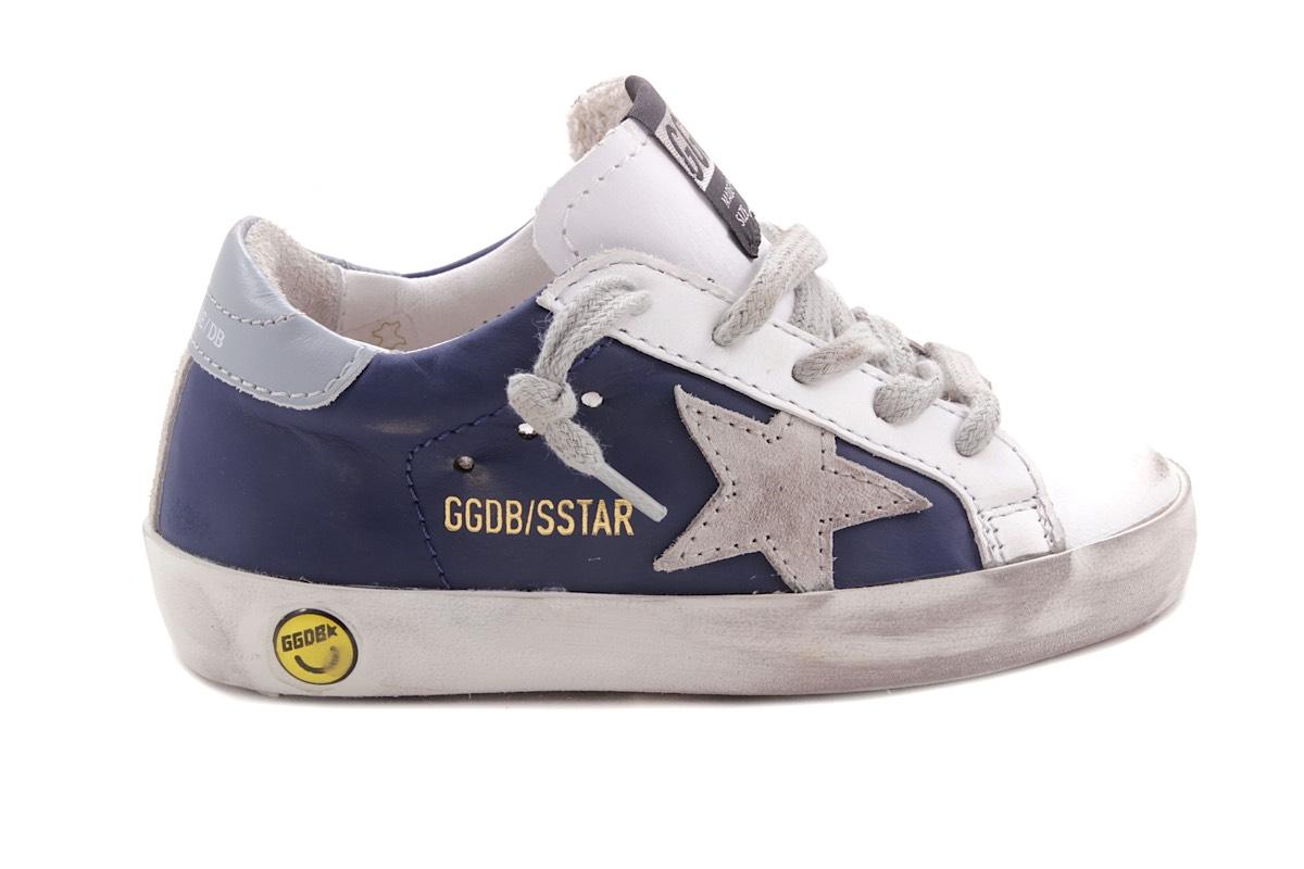 Sneaker Wit Blauw