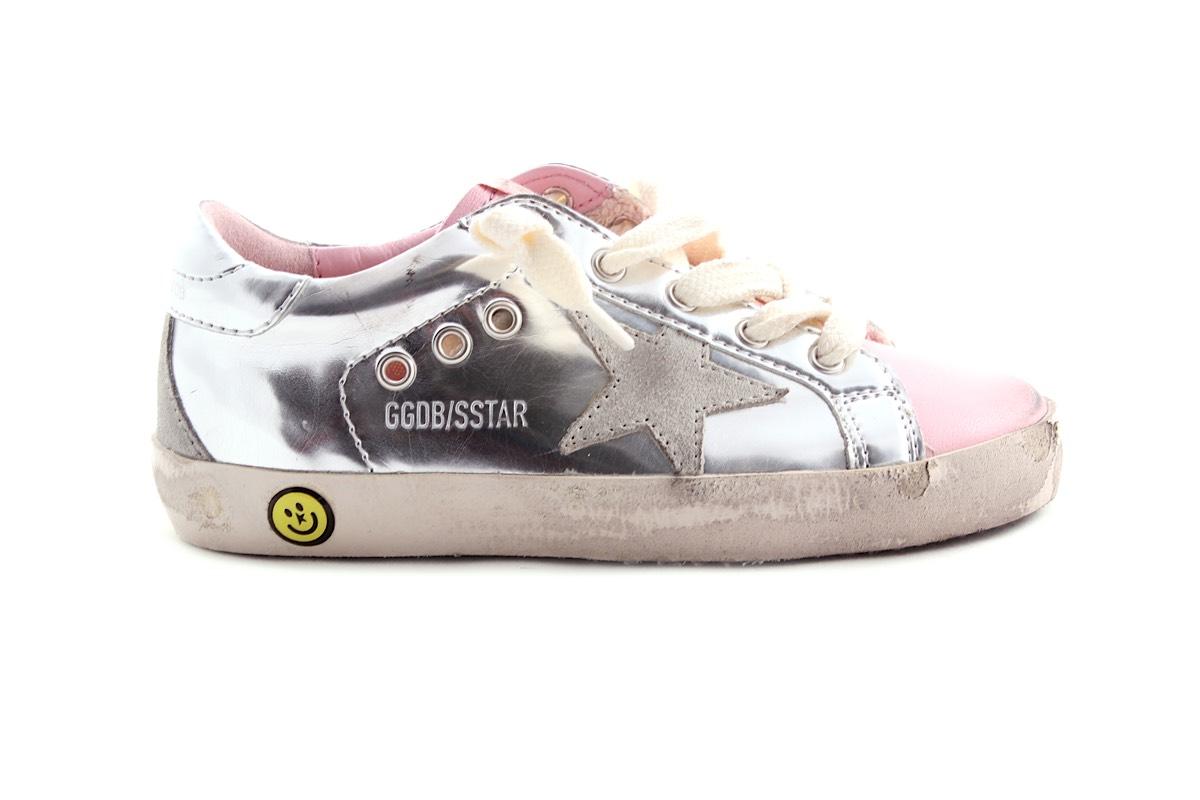 Sneaker Zilver Roze