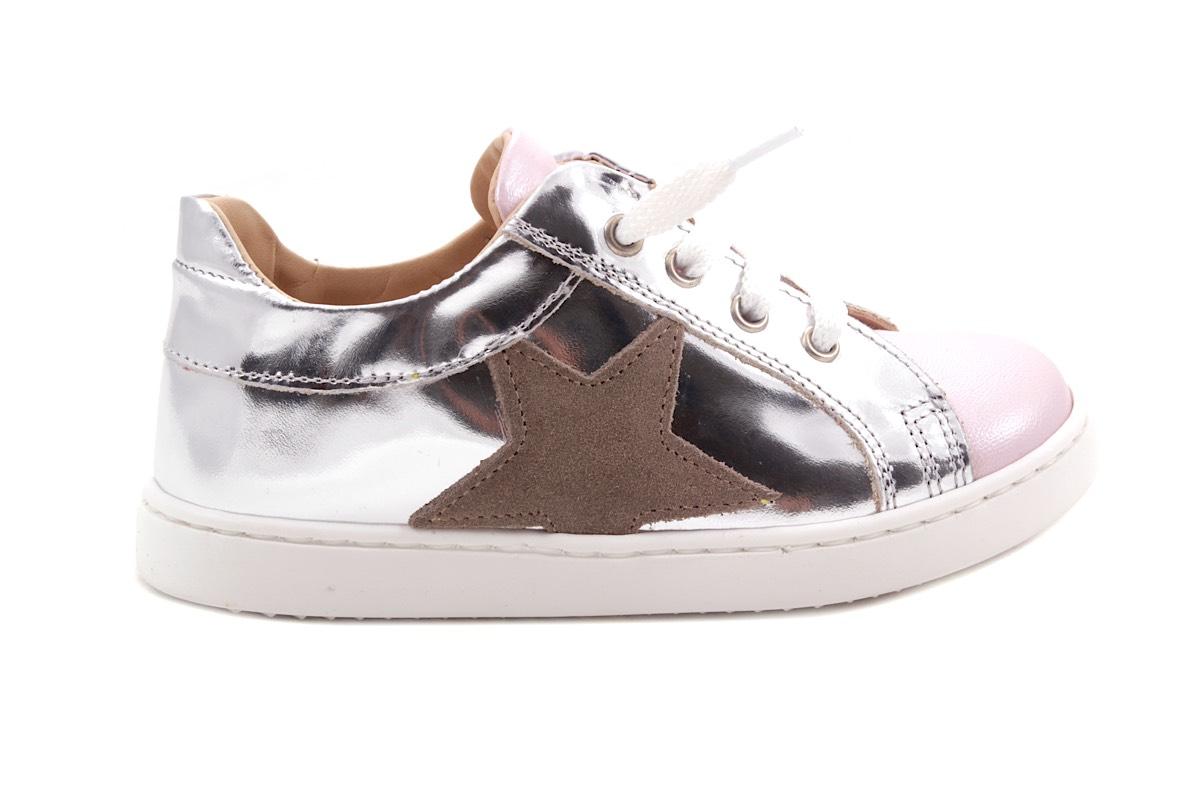 Sneaker Zilver Spiegel Roze