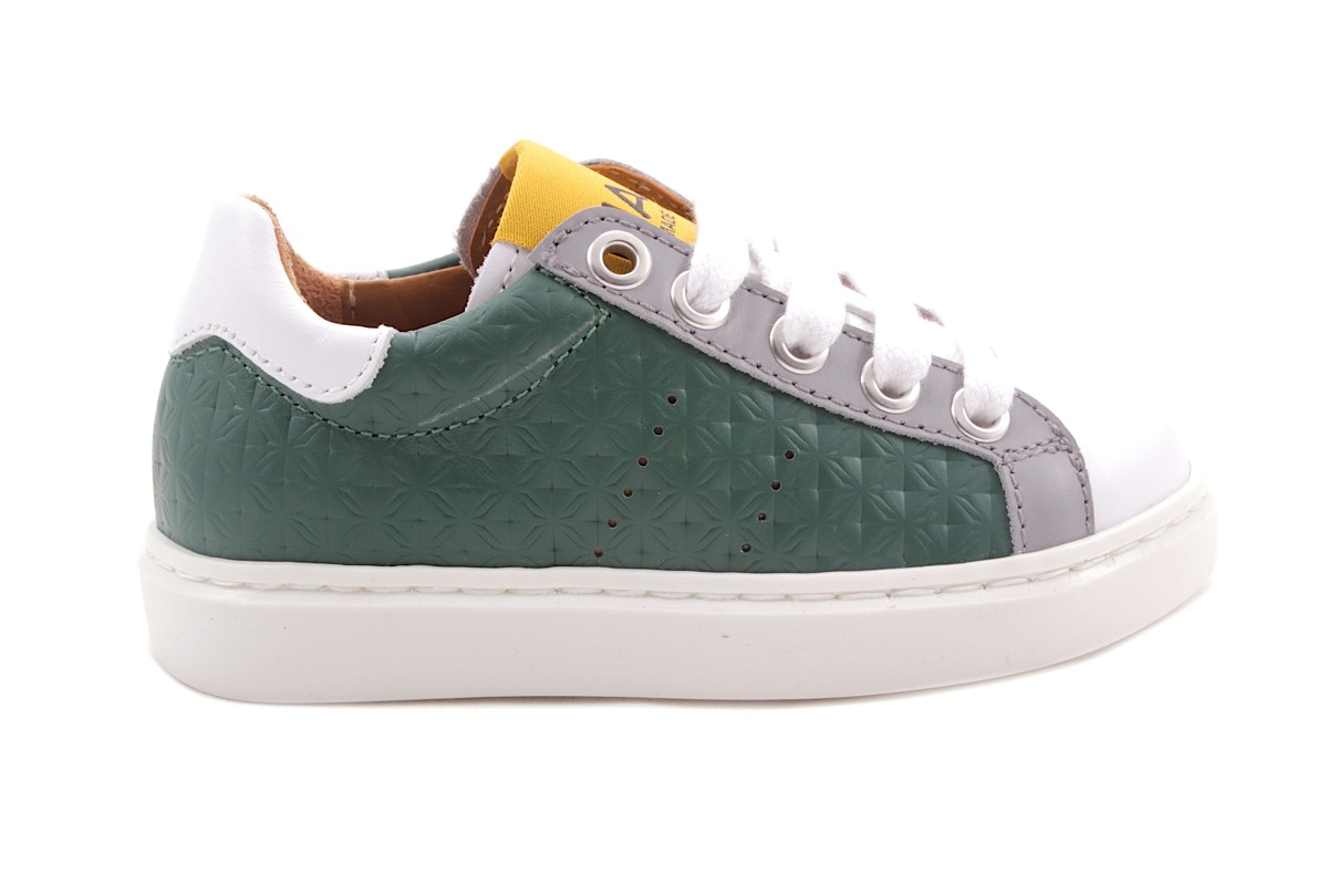Sneaker Groen Veter En Rits