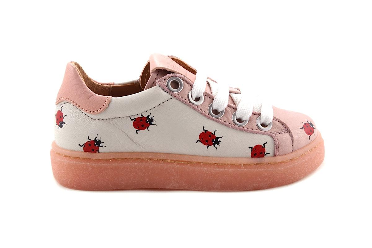 Sneaker Roze Leder Laag Lieveheersbeestje