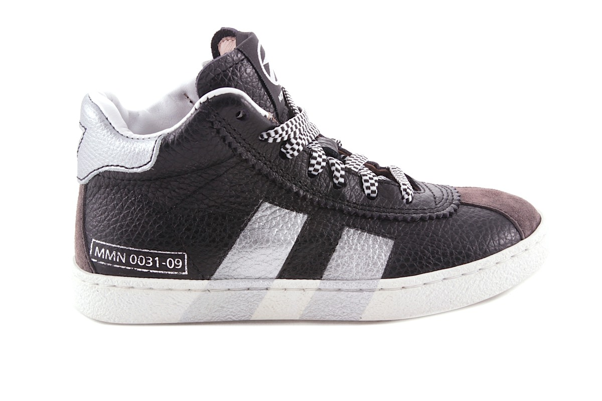 Sneaker Zwart Zilver Strepen