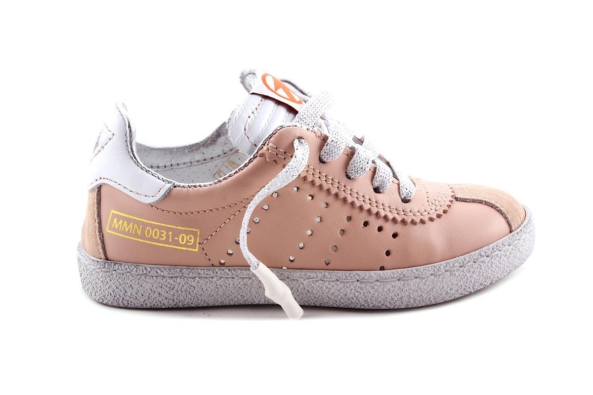 Sneaker Nude Zilver Veter En Rits