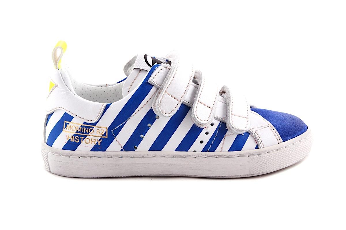 Sneaker Wit Met Blauw Velcro's