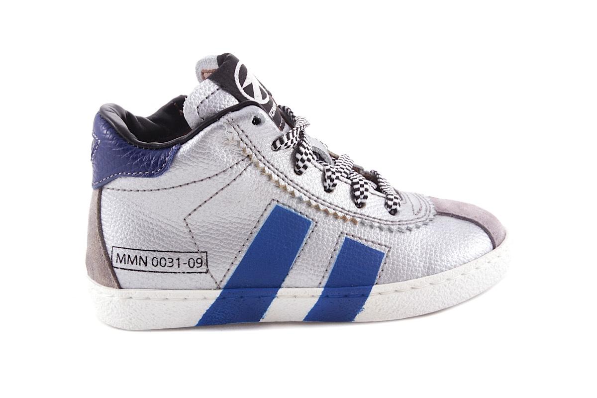 Sneaker Zilver Blauwe Strepen