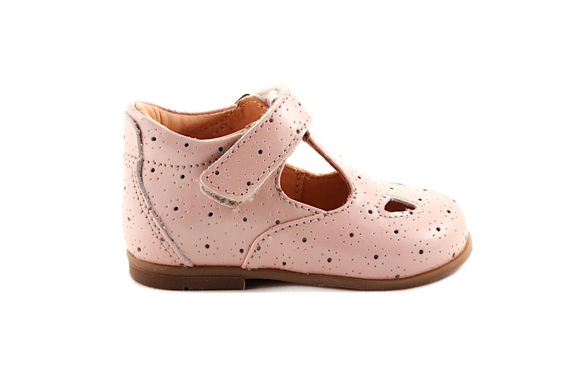 Schoen Gesp Roze Bloem 2 Oogjes Vooraan