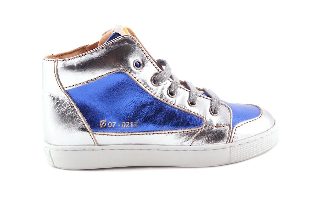 Sneaker Metallic Zilver En Blauw Metallic