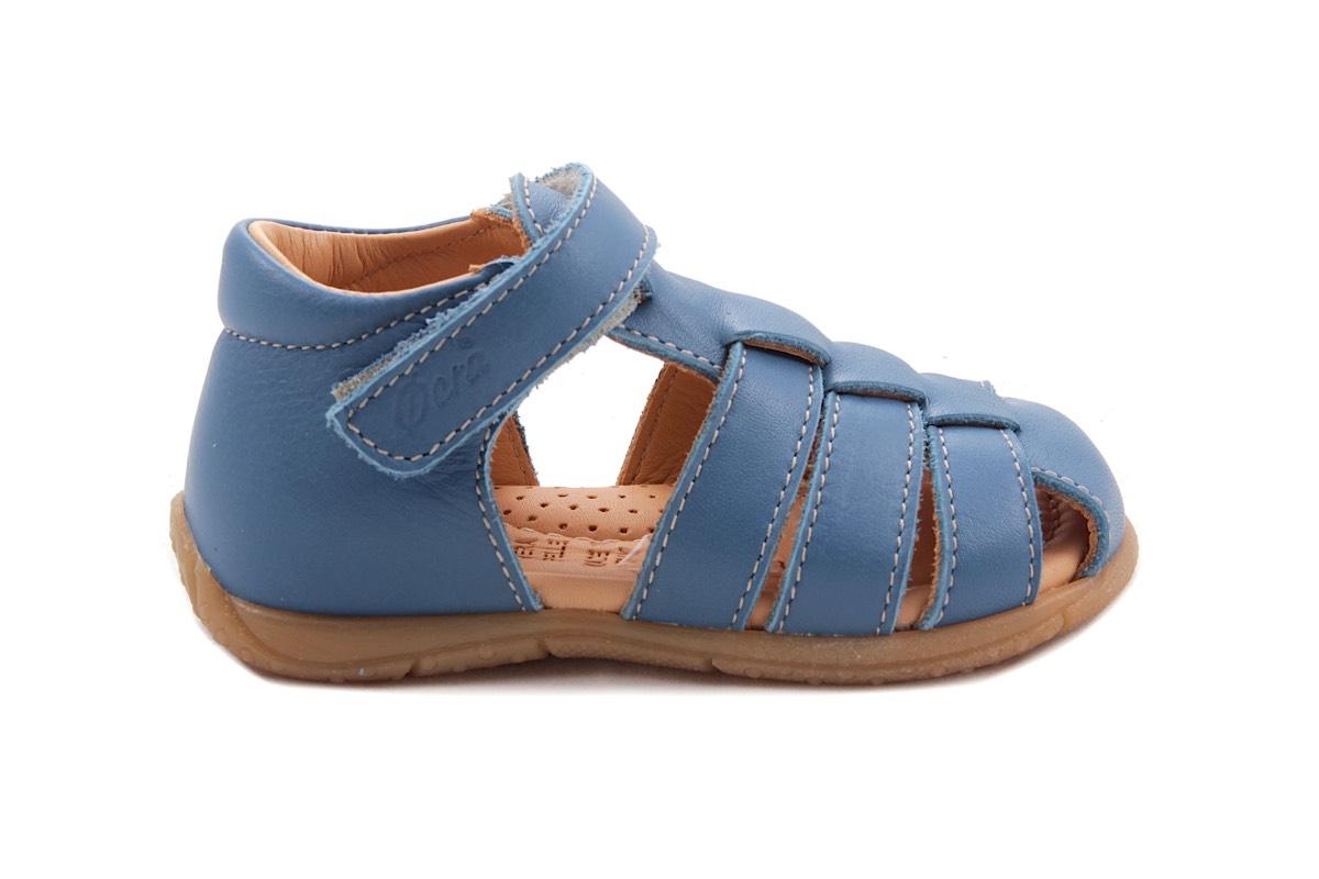 Sandaal Denim Blauw Gesloten Hiel En Tip