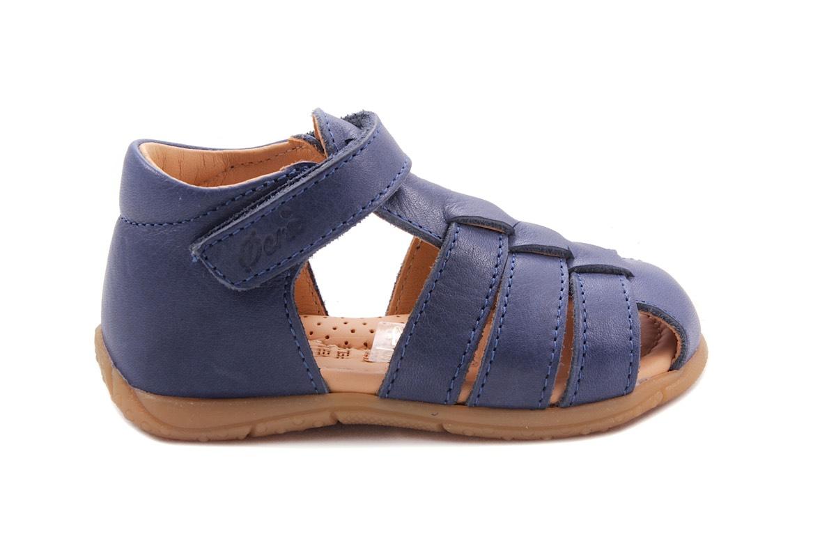 Sandaal Donkerblauw Gesloten Hiel En Tip