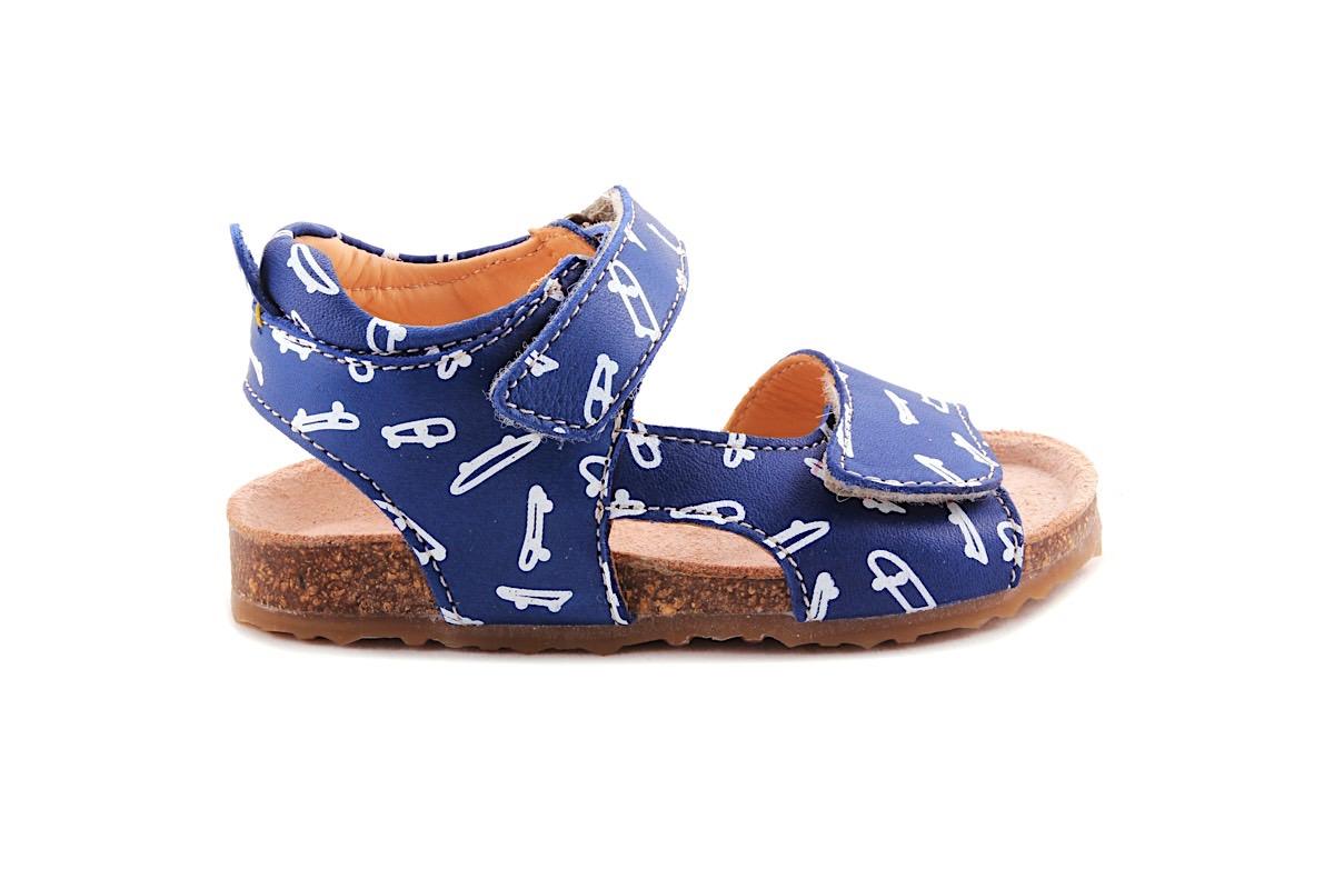 Sandaal Blauw Skatebord Kurkzool