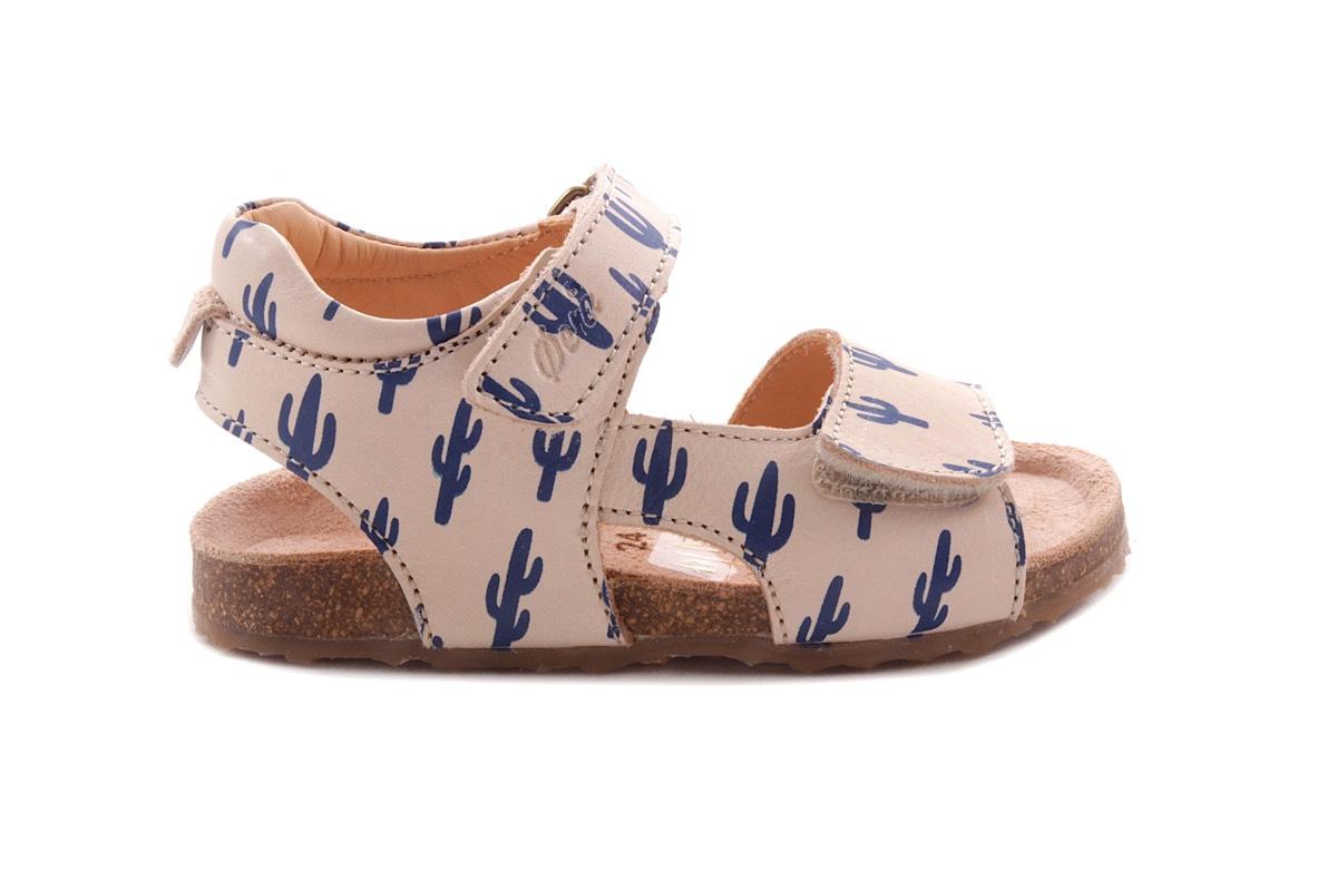 Sandaal Blauw Cactus Kurkzool