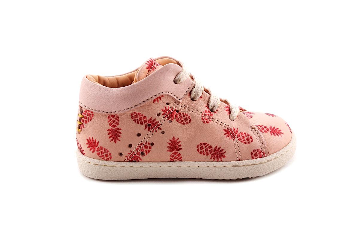 Sneaker Ananas Roze Halfhoog Klein