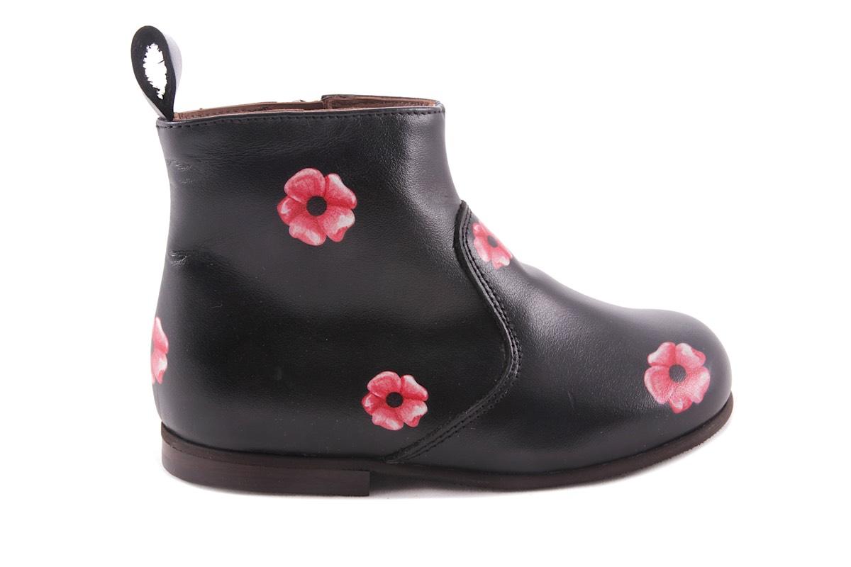Laars Zwart Roze Bloemen