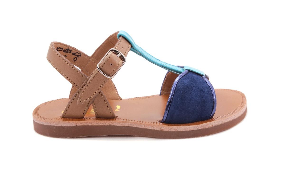 Sandaal T-model Groot Blauw En Turquiose