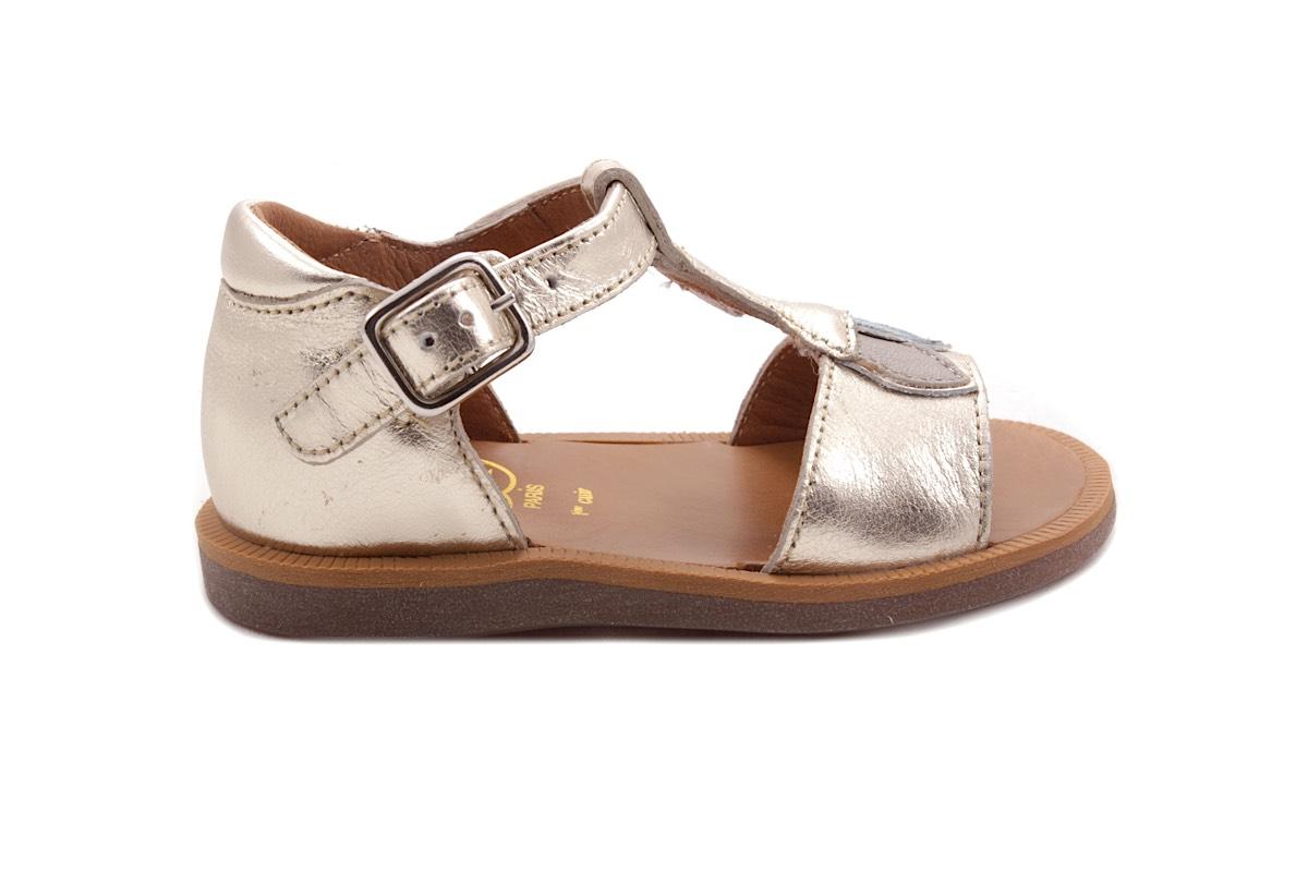 Sandaal Blaadjes Goud