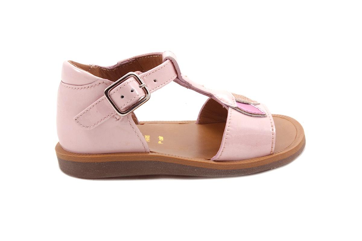 Sandaal Blaadjes Roze Lak