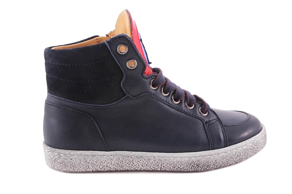 Sneaker Groot Blauw Met Blink Ster Blauw Rood