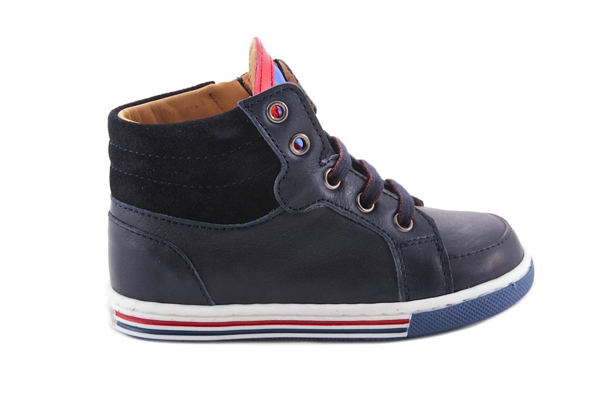 Sneaker Klein Blauw Rubber Tipje Blink Ster Blauw Rood