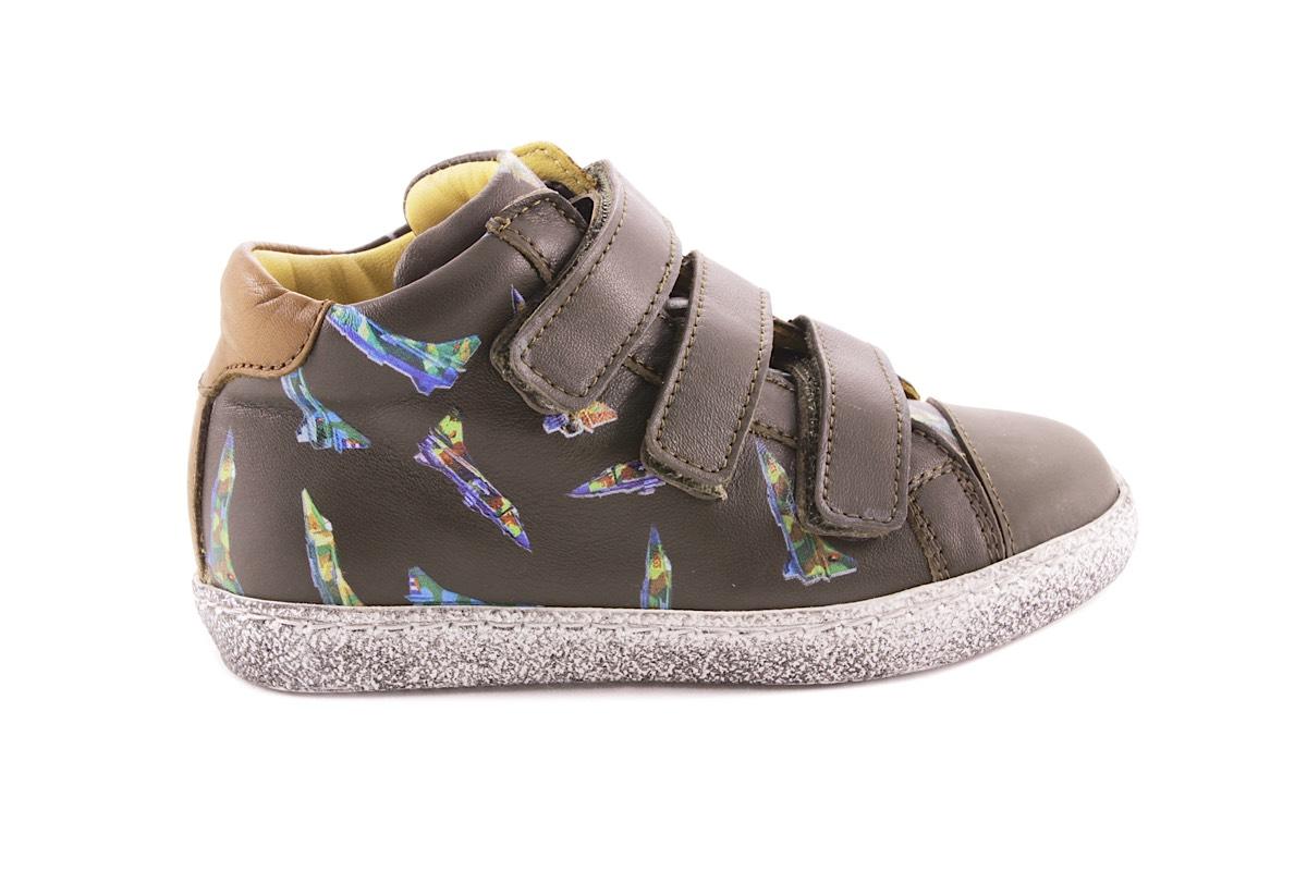 Sneaker Kaki Velcro Straaljager Groot