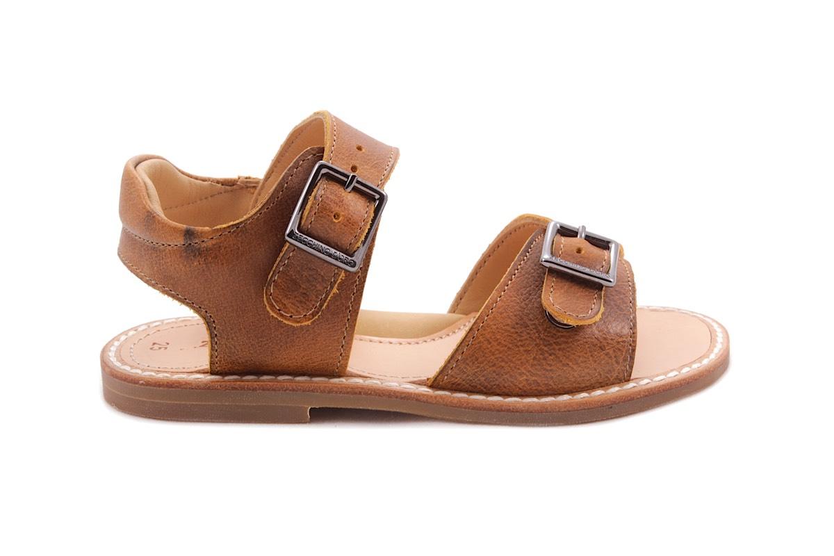 Sandaal 2 Gespen Oker Waxed