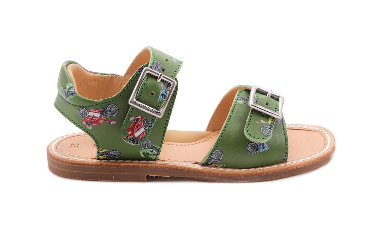 Sandaal 2 Gespen Groen Motos