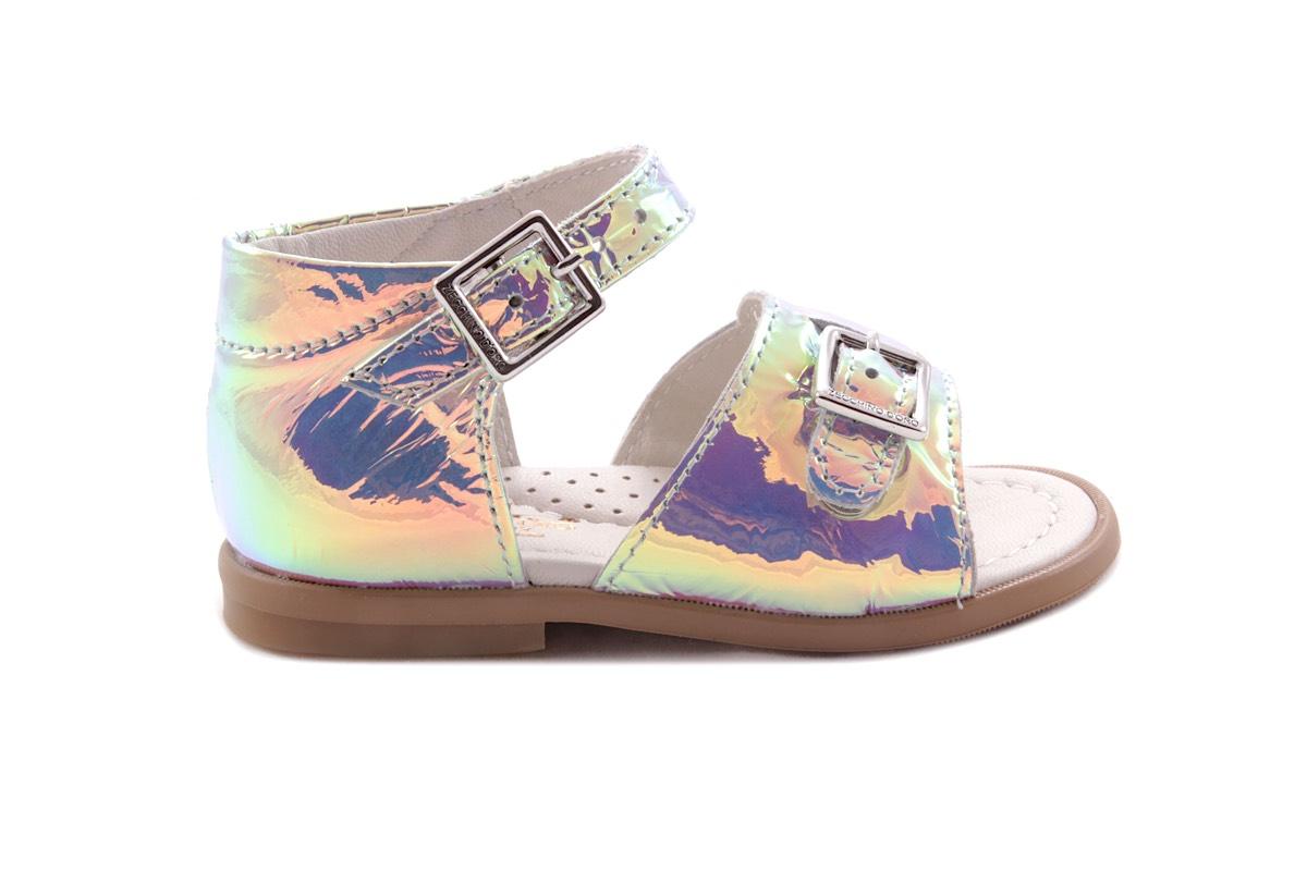 Sandaal Gespje Vooraan Spiegel Multicolor