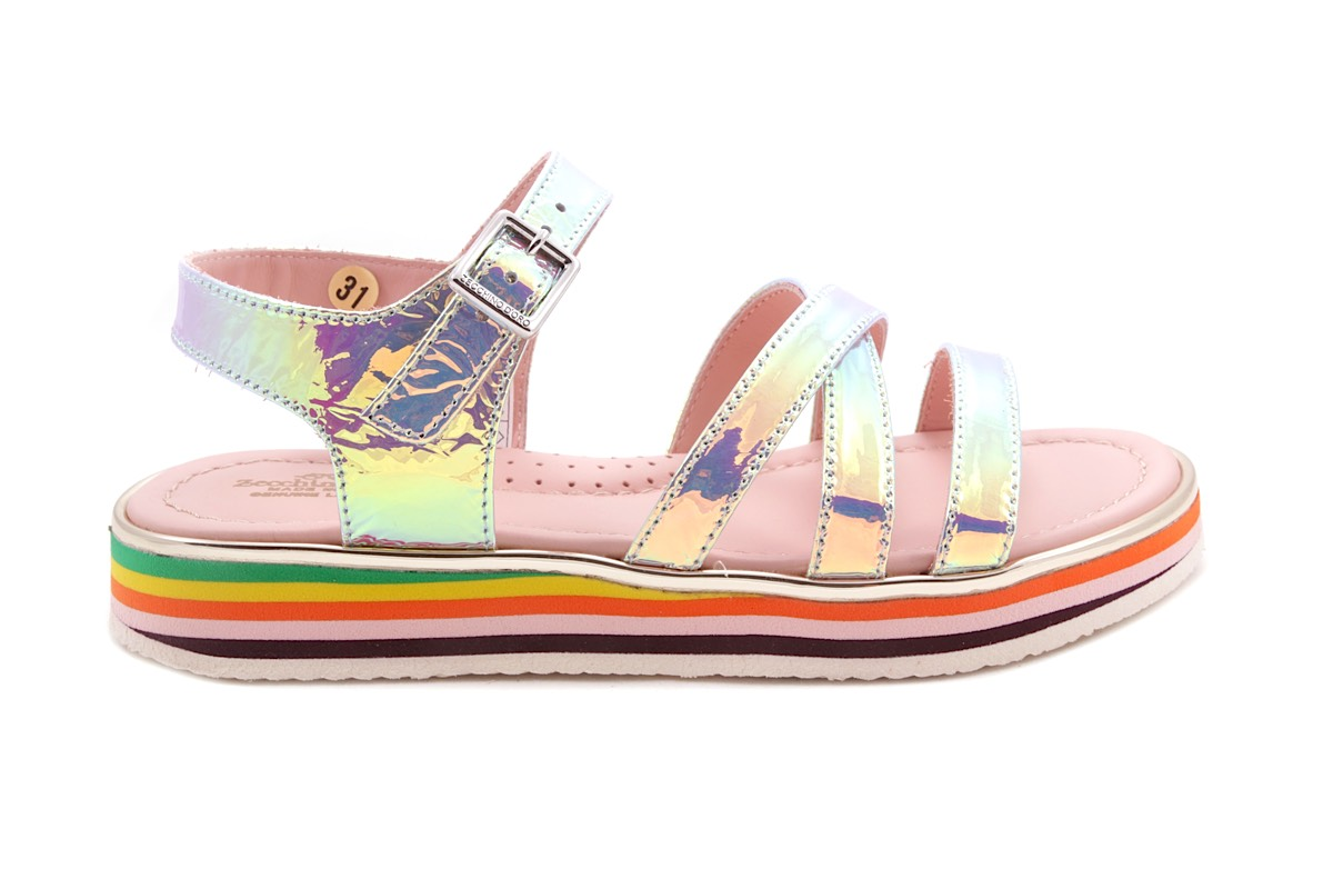 Sandaal Multi Color Zool Spiegel Multicolor