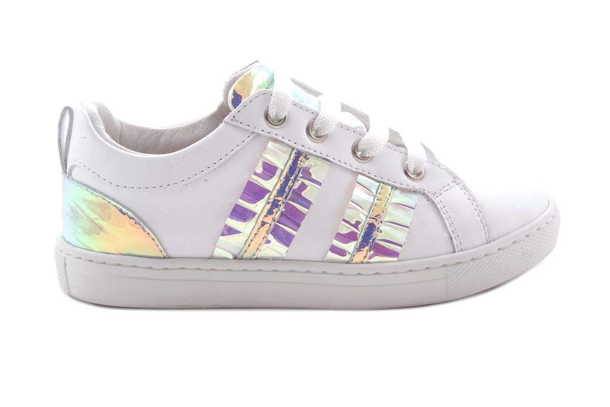 Sneaker Wit Blink Strepen
