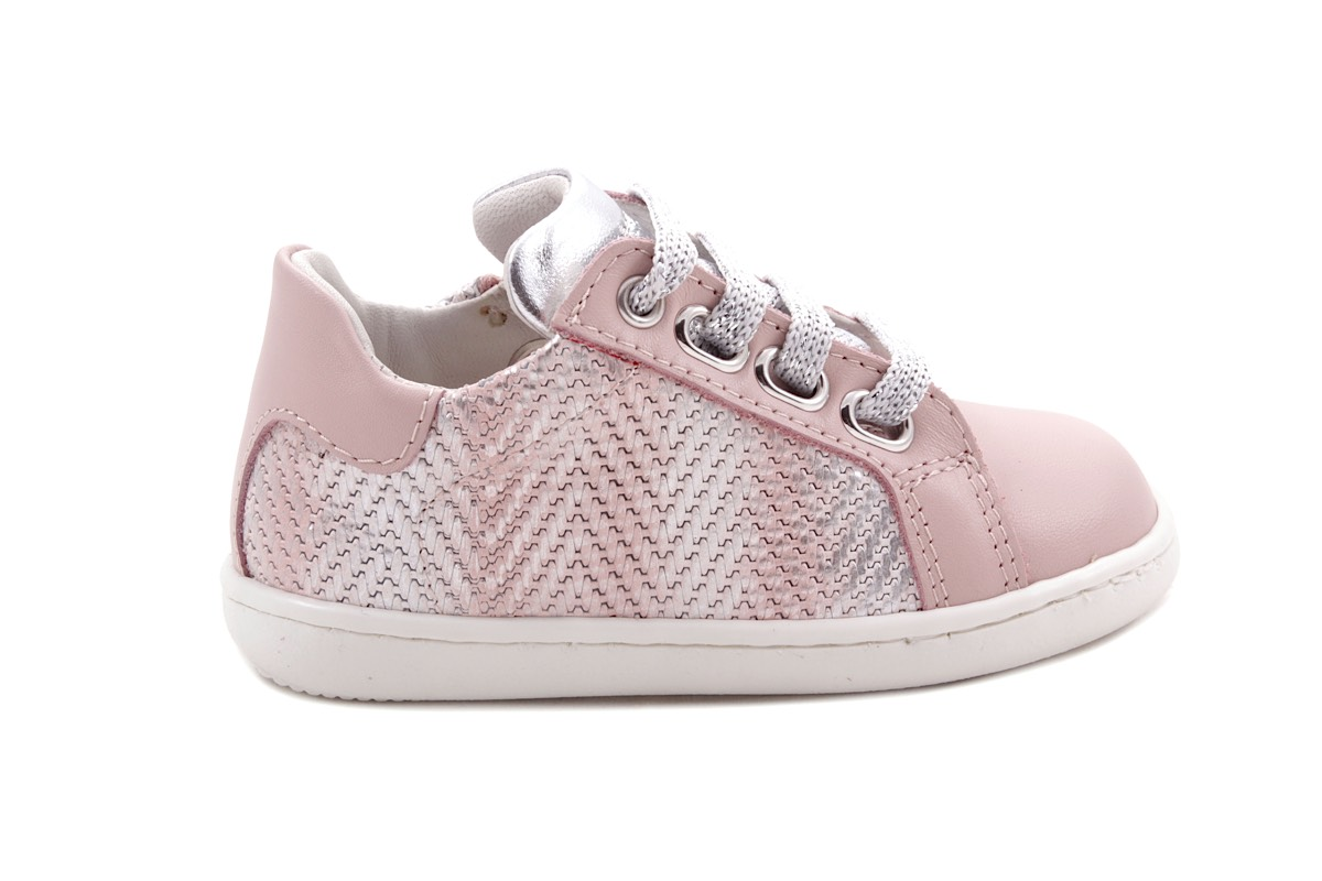 Sneaker Klein Roze Leder Tresse