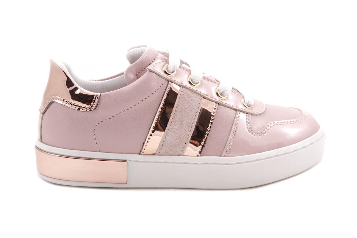 Sneaker Roze 2 Strepen Metallic Koper