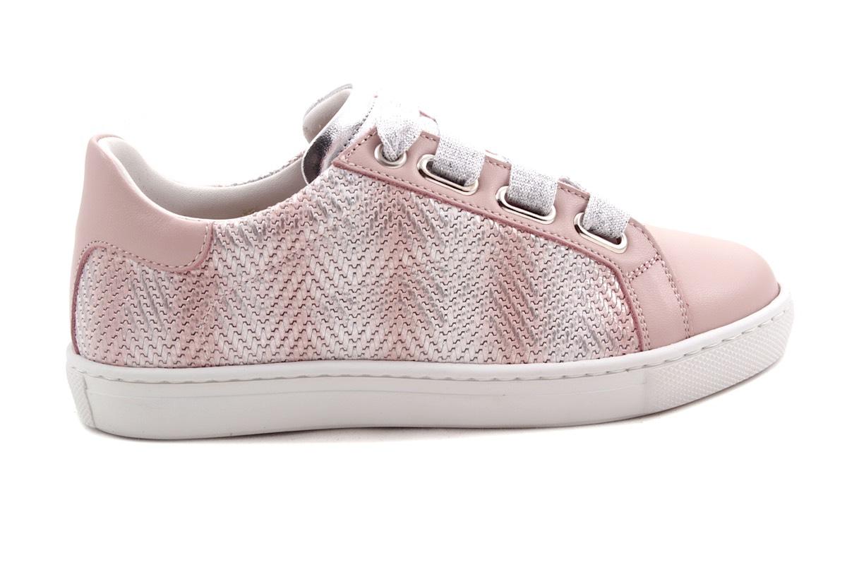 Sneaker Groot Roze Leder Tresse