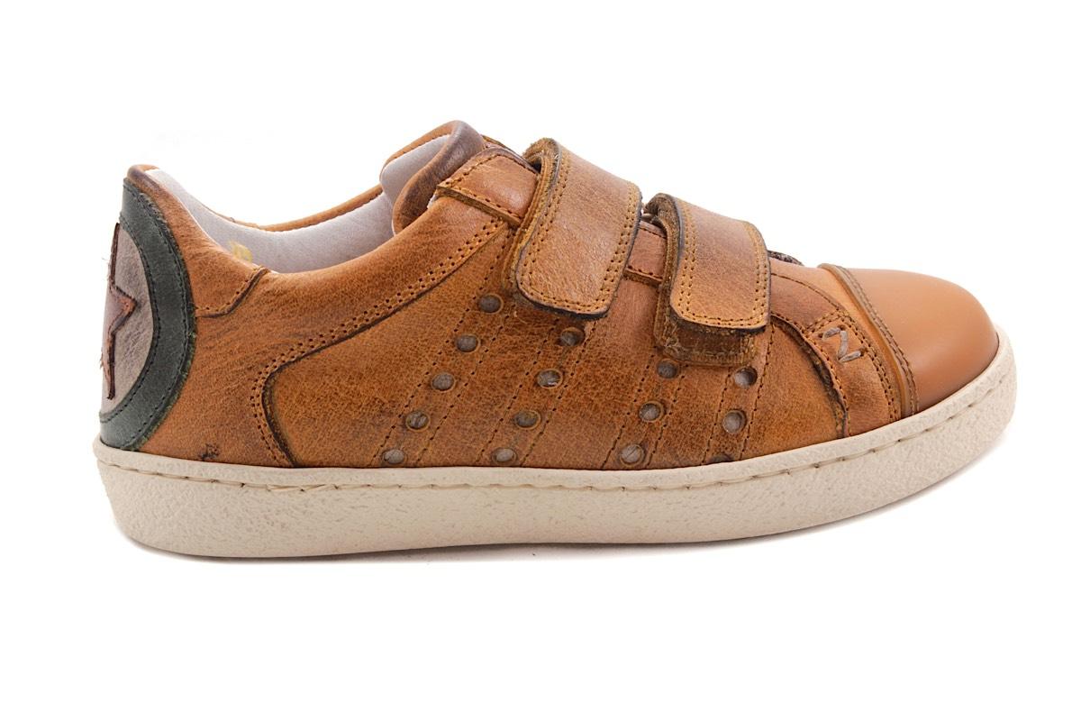 Sneaker 2 Velcro Oker Waxed