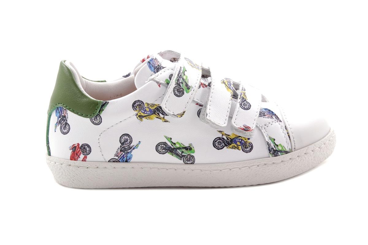 Sneaker Wit Met Moto 3 Velcro