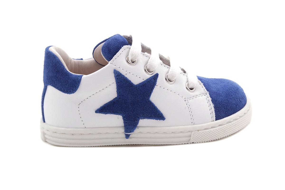 Sneaker Blauw Daim En Wit Ster Blauw