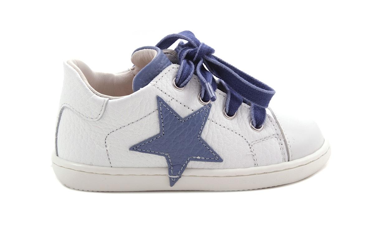 Sneaker Wit En Lichtblauw Ster Blauw