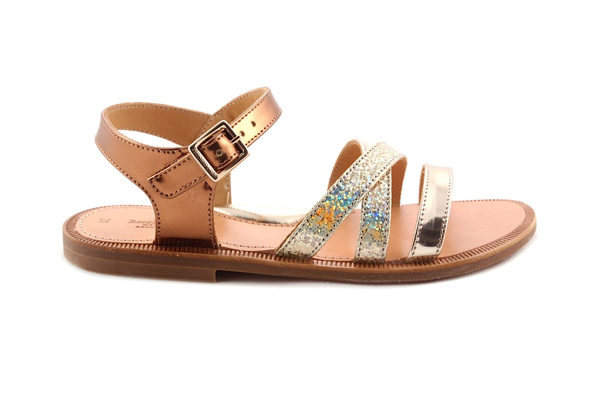 Sandaal Bandjes Vooraan goud