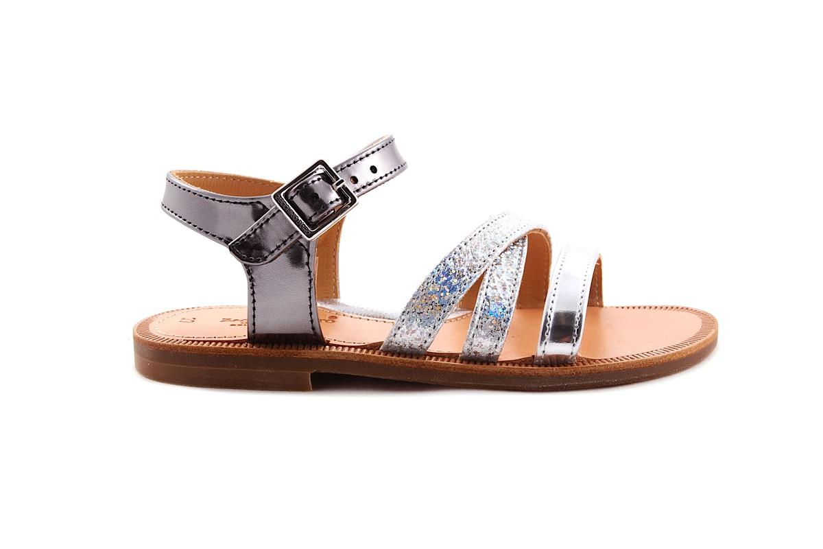 Sandaal Bandjes Vooraan zilver