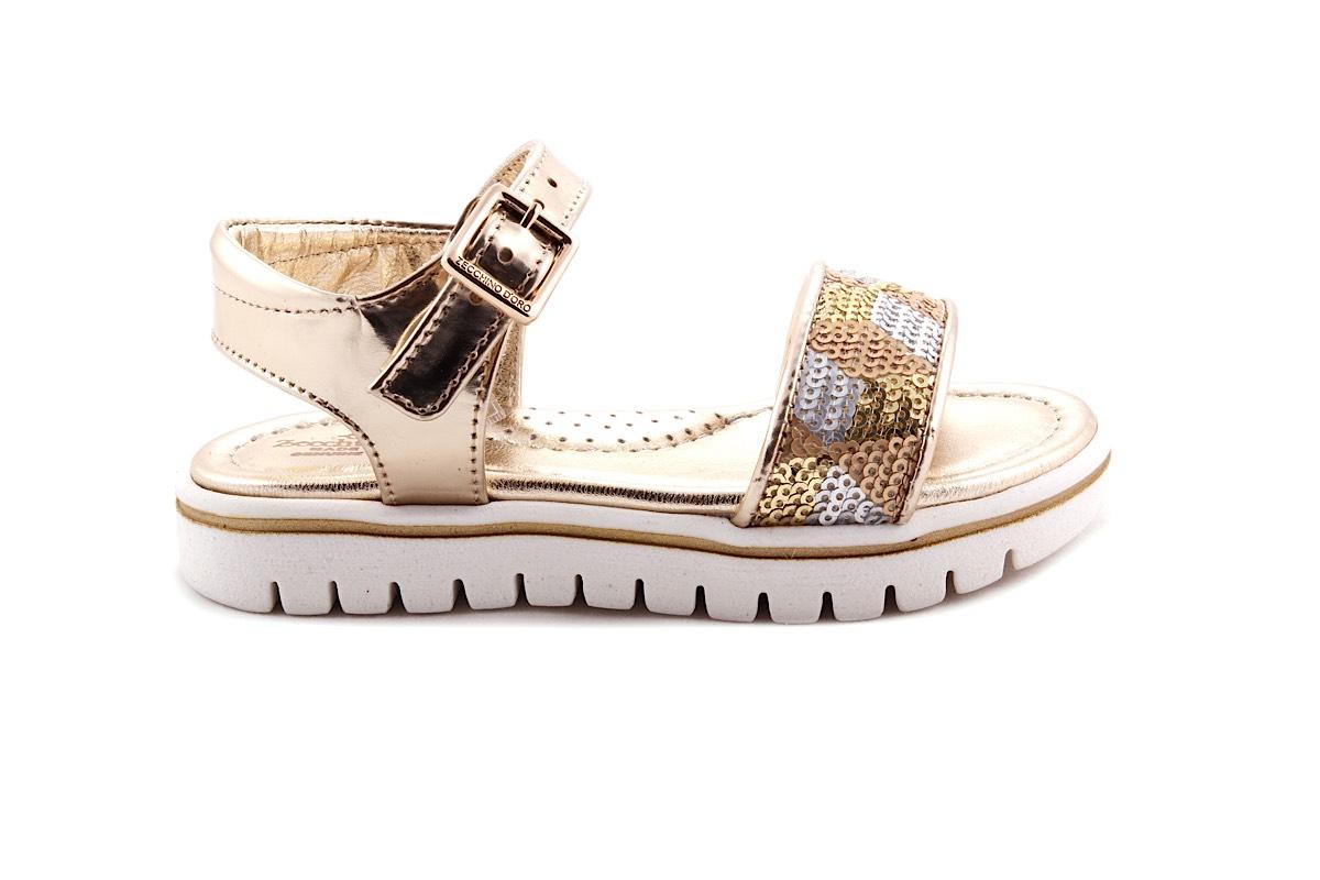 Sandaal Witte Zool Gouden Metallic