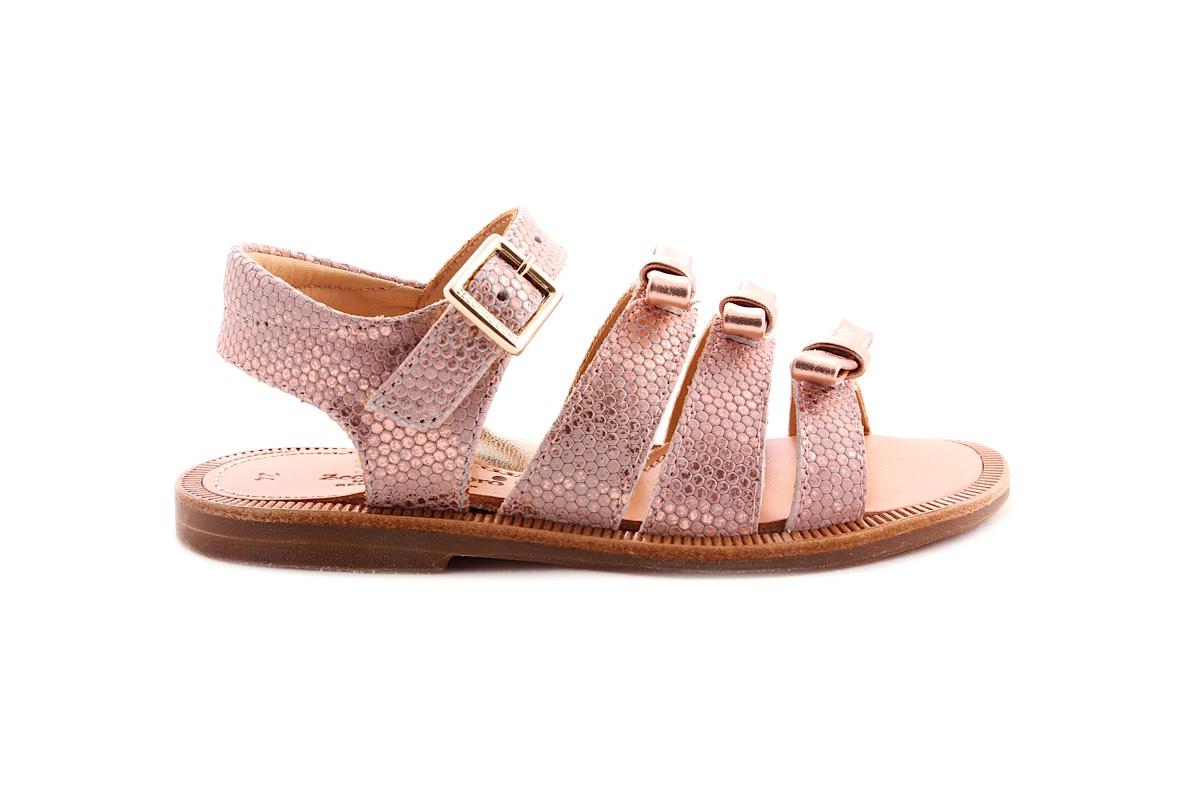 Sandaal  3 Strikjes Vooraan Roze
