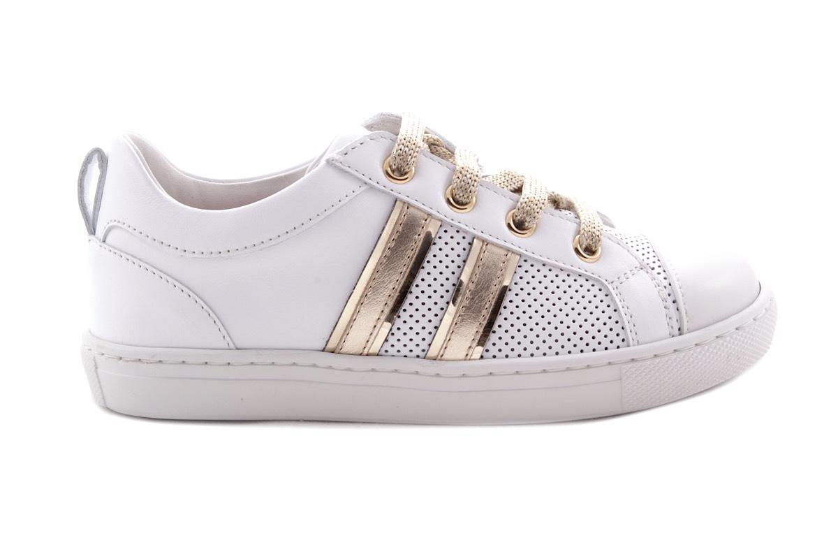 Sneaker Groot Wit Gouden Strepen