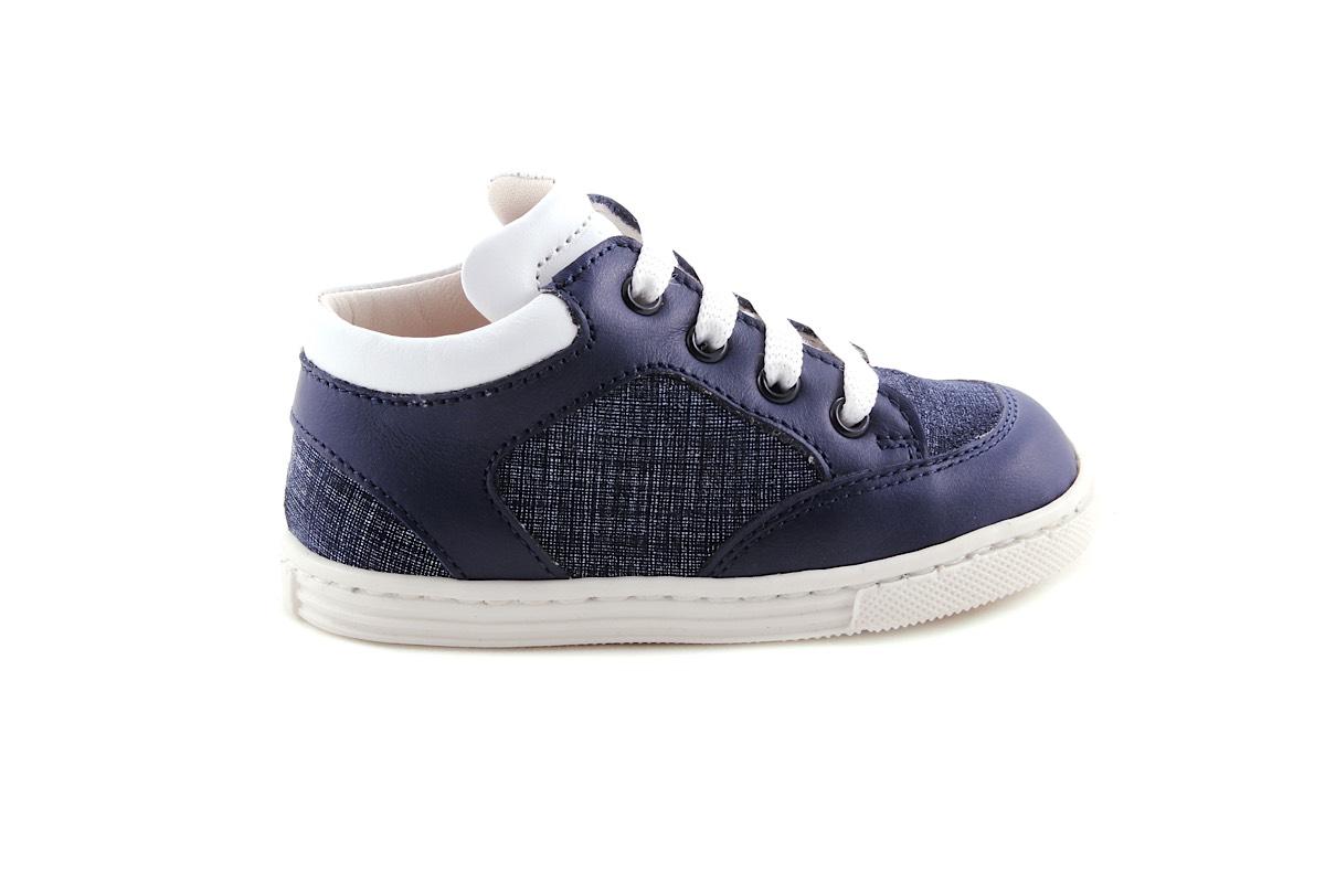 Sneaker Blauw Jeans Witte Lip