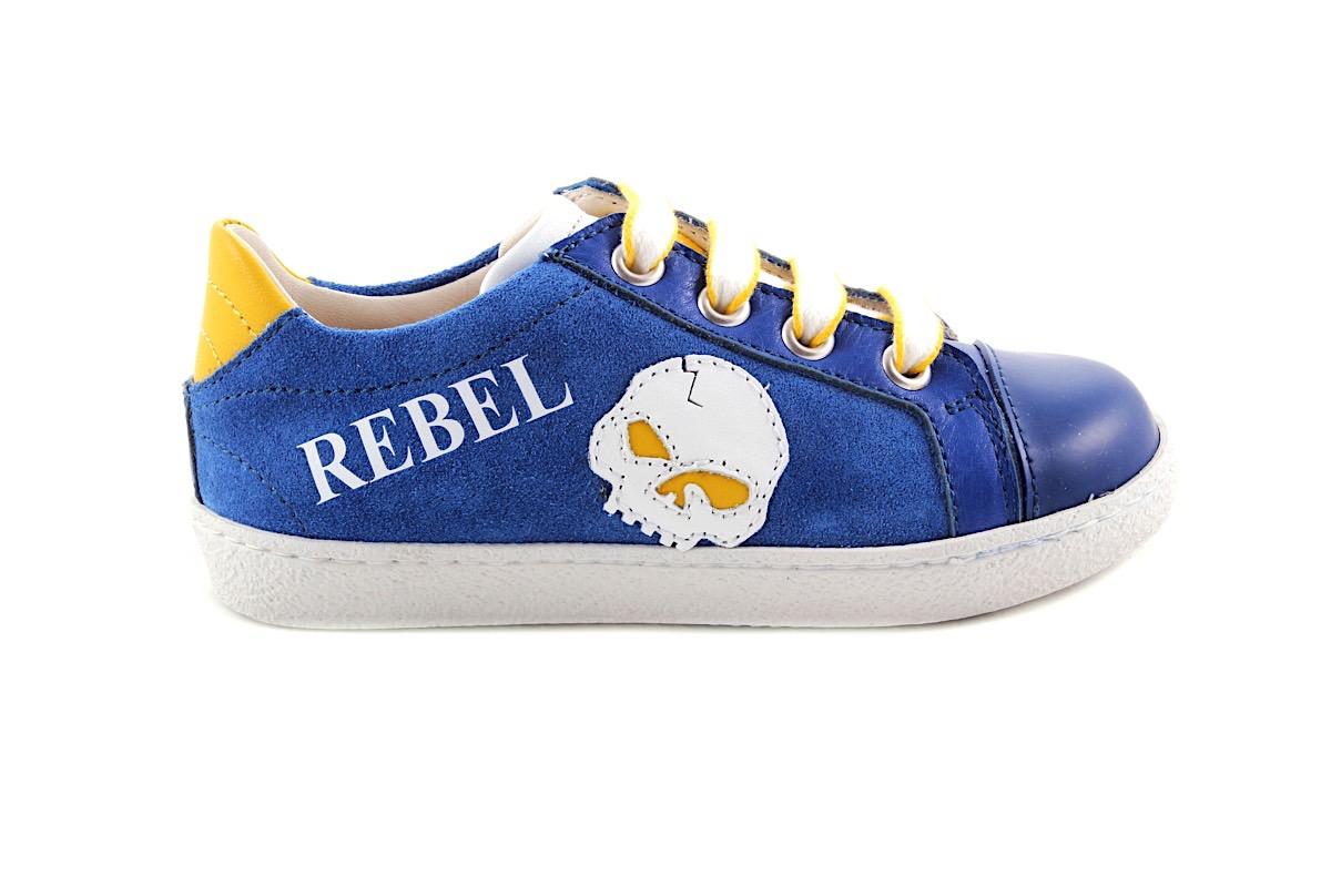 Sneaker Rebel Blauw Met Geel