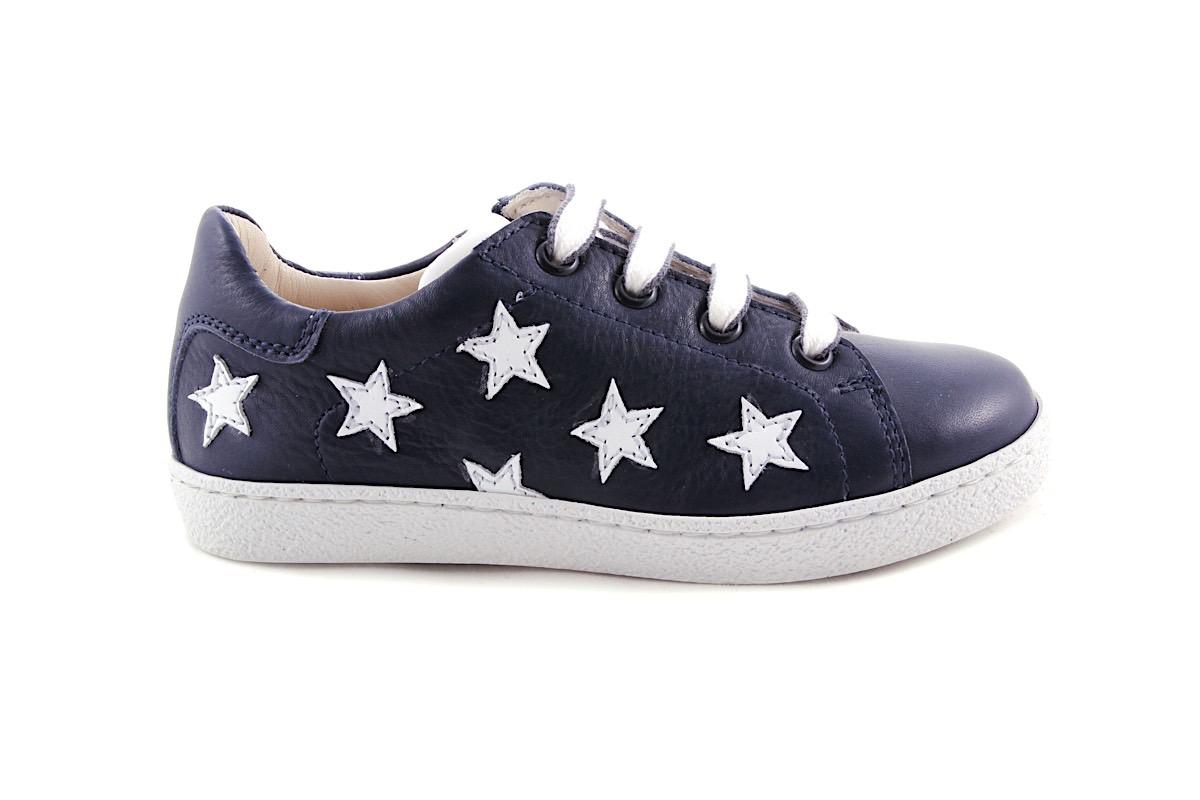 Sneaker Groot Donkerblauw  Met Witte Sterretjes