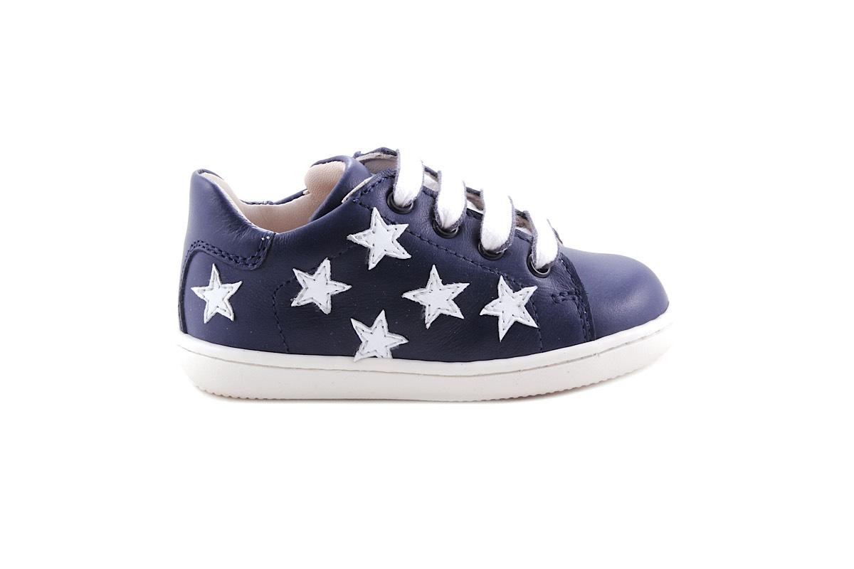 Sneaker Klein Donkerblauw  Met Witte Sterretjes